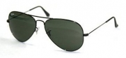 Ray-Ban RB3025 Aviator Large Metal Non-Polarized Sunglasses,Black Frame/G-15 XLT Lens