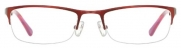 Half Rim Metal Frame with Acetate Temples (Burgundy Red)