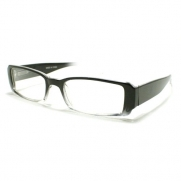 Black Clear Extra Narrow Rectangular Plastic Frame Clear Lens Fashion Eye Glasses
