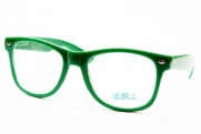 Wayfarer 80s Retro Clear Lens Eyeglasses Sunglasses E21 (cr green, clear)