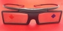 2X Samsung SSG-4100GB 3D Active Glasses , Without Retail Box , with some Scratch.