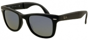Ray-Ban Folding Wayfarer Sunglasses RB4105 601S68-5022 - Matte Black Frame, RB4105-601S68-50