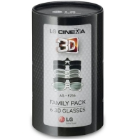 LG AG-F216 Cinema 3D Glasses Family Pack (6-Pairs) for 2011 and 2012 LG Cinema 3D HDTVs