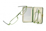 Pocket Eyes Folding Reading Glasses with Case -- 4 Colors! (+3.00, Silver)