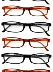Extra Pair® Value Eyes Plastic Frames 6 Pack - Incredible Value, 1.00