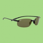 Serengeti Nuvola Sunglasses (Polar PhD 555, Shiny Black)