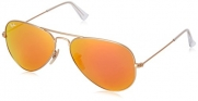 Ray Ban RB3025 Large Aviator Sunglasses - 112/69 Gold (Orange Mirror Lens) - 58mm