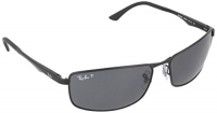Ray-Ban 3498 006/81 Black 3498 Rectangle Sunglasses Polarised Lens Category 3 L