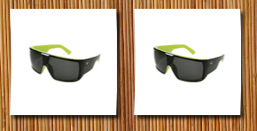 Dragon Alliance domo sunglasses (jet lime with grey lens)